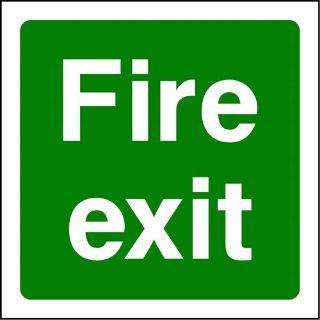 """Picture of """"Fire  Exit"""" Sign"""