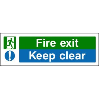 """Picture of """"Fire Exit- Keep Clear"""" Sign"""