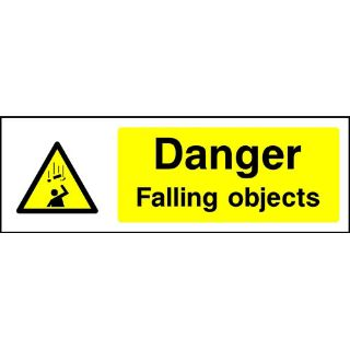 """Picture of """"Danger Falling Objects"""" Sign"""