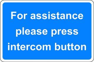 Picture of For assistance please press intercom button