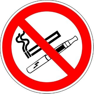 Picture of Iso Safety Label Sign - International No Smoking And No E-Cigarette Symbol
